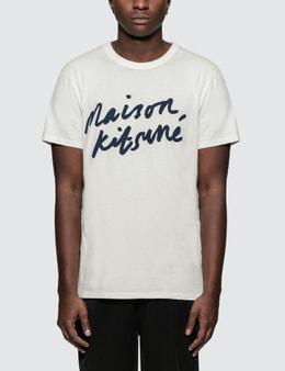 Maison Kitsune Handwriting S/S T-Shirt