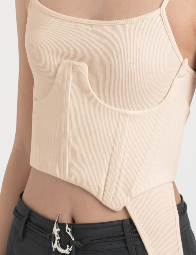 Hyein Seo Tank Top With Corset Ivory Women