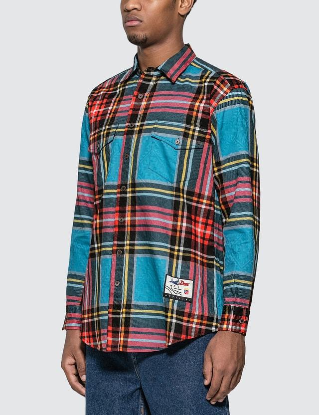Just Don Islanders Plaid Shirt =e29 Men
