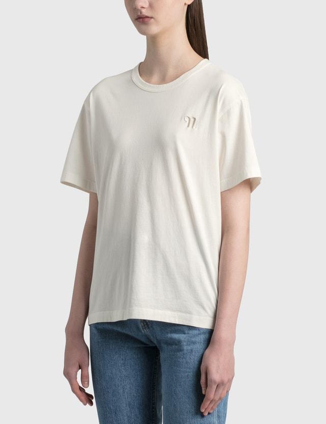 Nanushka Reece Logo T-shirt Off White Women
