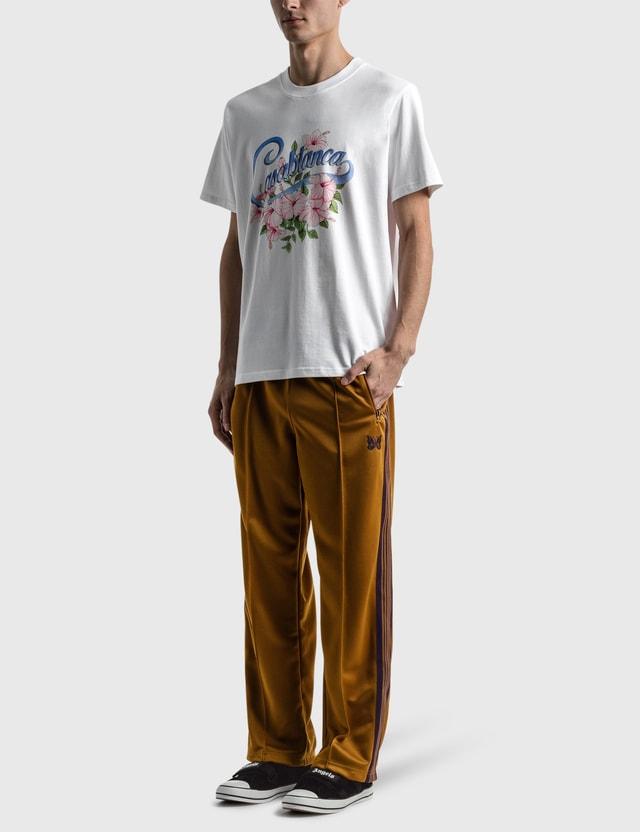 Casablanca Hibiscus Printed T-shirt White Men