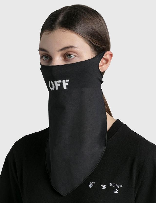Off-White OFF Bandana Mask Black White Women