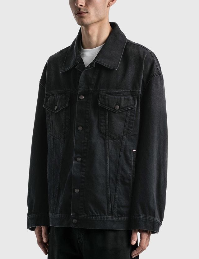 Acne Studios Morris Washed Out Black Denim Jacket Black Men