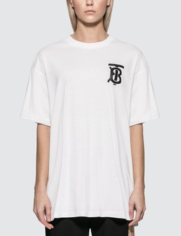 Burberry Monogram Motif Cotton Oversized T-shirt