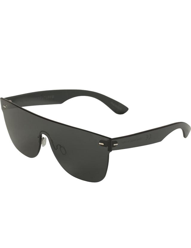 7343daa3ae5f Super By Retrosuperfuture - Tuttolente Flat Top Black Sunglasses (L ...