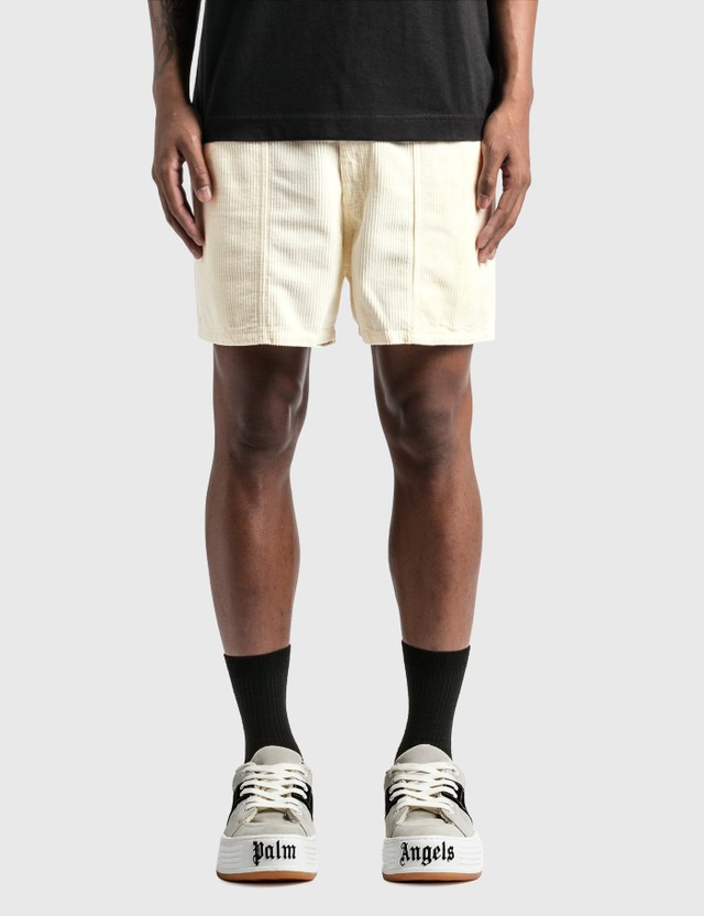 ERL Corduroy Shorts Cream Men