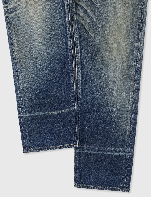 Saint Laurent Straight-Fit Jeans In Dirty Winter Blue Denim Dirty Winter Blue Men