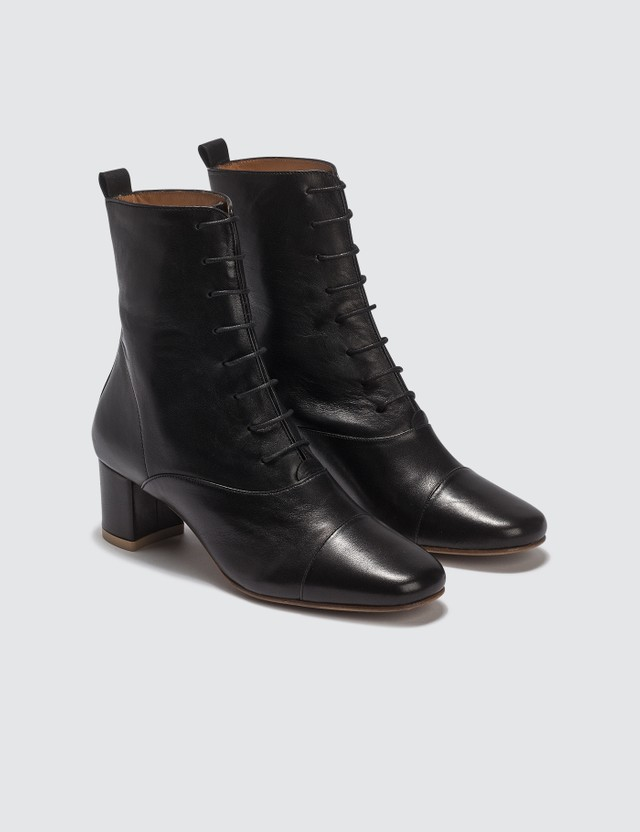 BY FAR Lada Leather Black Boots
