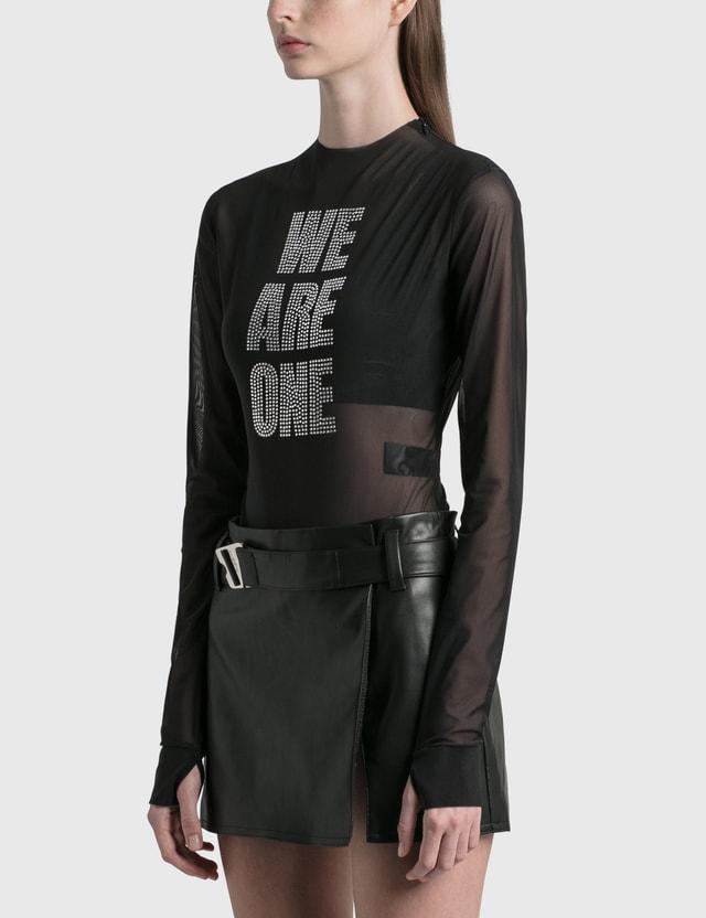 Misbhv We Are One Crystal Bodysuit Black Women