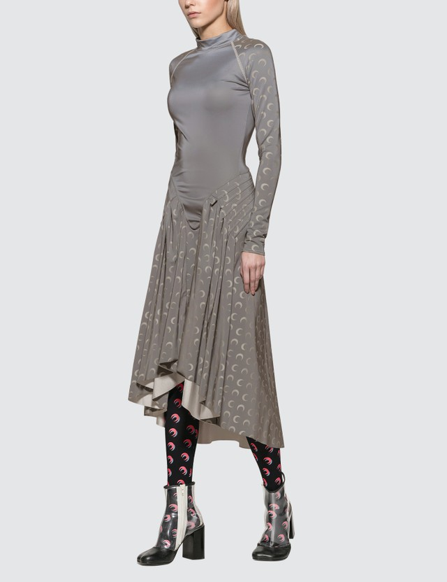 Marine Serre Reflective Dress With Pleats