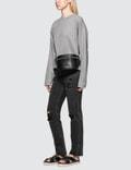 Alexander Wang.T Dry French Terry Distressed Sweatshirt Heather Grey Women