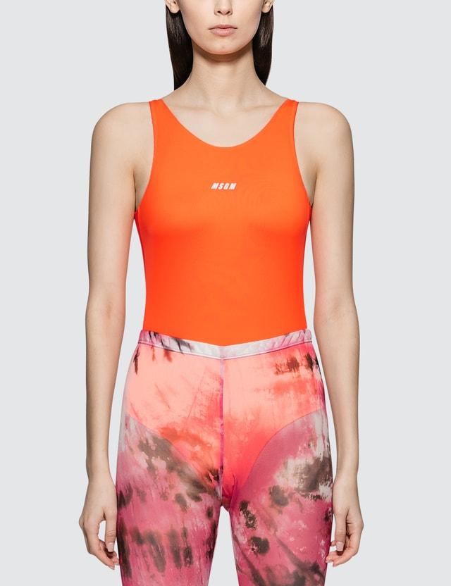 MSGM Costume Swimsuit Orange Women