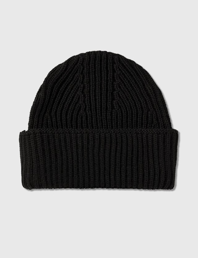 Maison Kitsune Ribbed Hat Tricolor Fox Patch