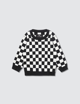 Meme Checkered Knit Sweater