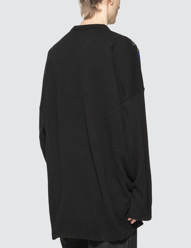 Raf Simons Printed Shoulder Patches Oversized Sweater