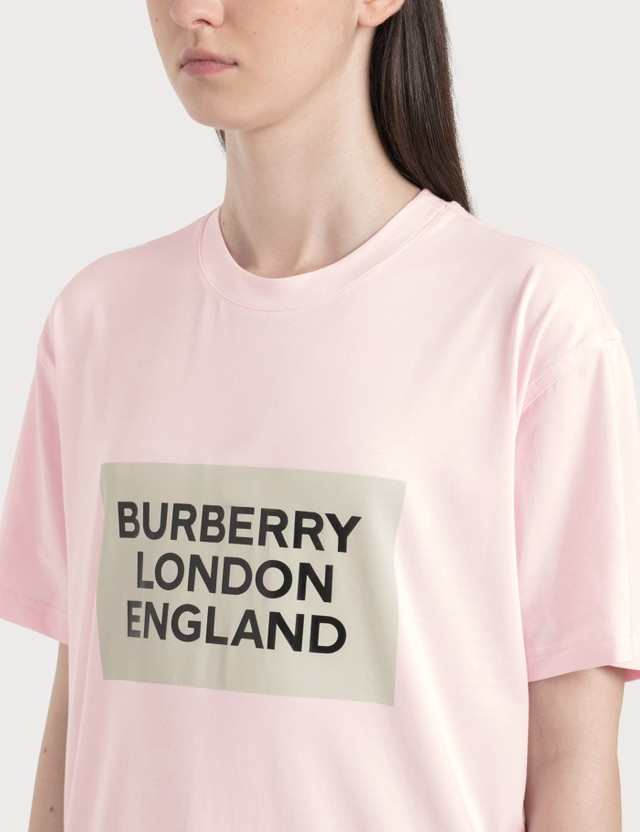 Burberry Logo Print Stretch Cotton Oversized T-shirt