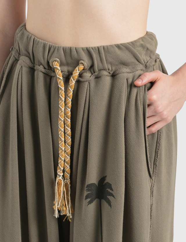 Palm Angels Palm Tree Pants Brown  Black Women