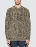 Stone Island Shadow Project Jacquard Cotton Polyester Teddy Sweatshirt Picture