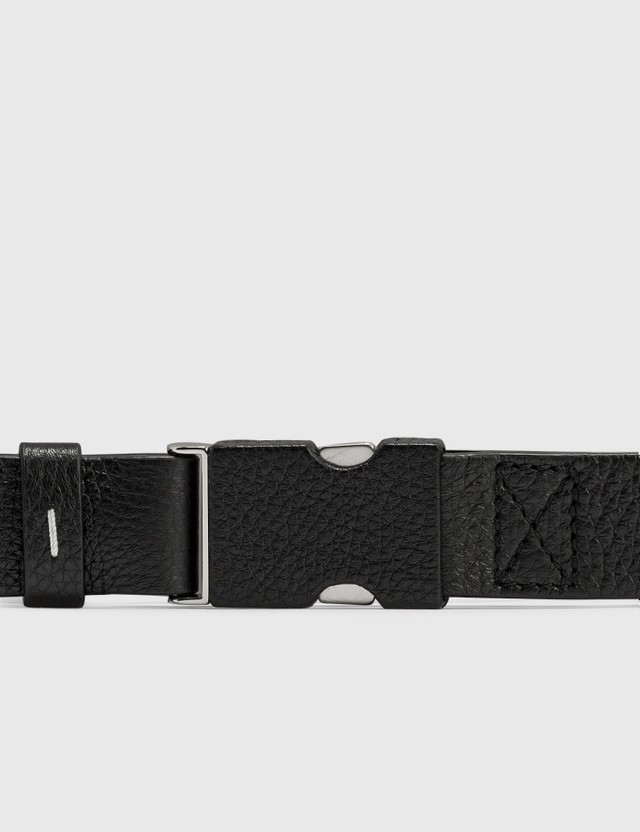 Maison Margiela Deer Leather Buckle Belt Black Men