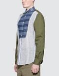 Loewe Patchwork Wing Collar Shirt