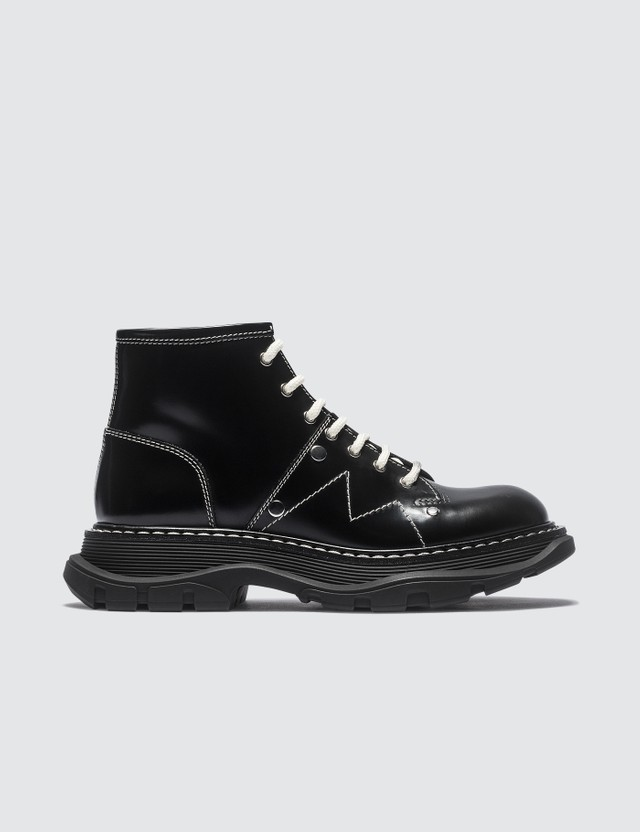 Alexander McQueen Patent Leather Ankle Boots