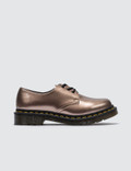 Dr. Martens 1461 Vegan Rose Gold Chrome Paint Metallic 사진
