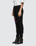 Versace Rainbow Color Logo Sweatpants Black Women