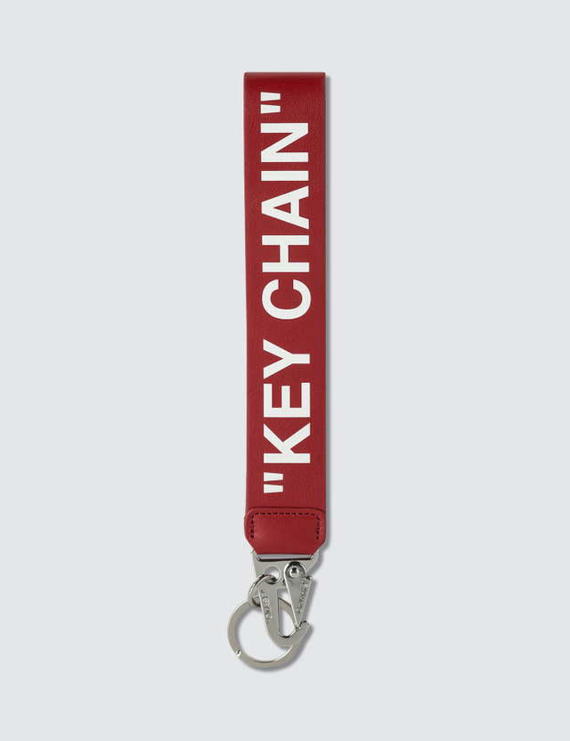 Off-White Quote Leather Key Chain