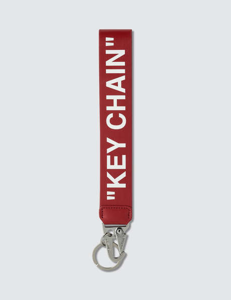 오프화이트 Off-White Quote Leather Key Chain