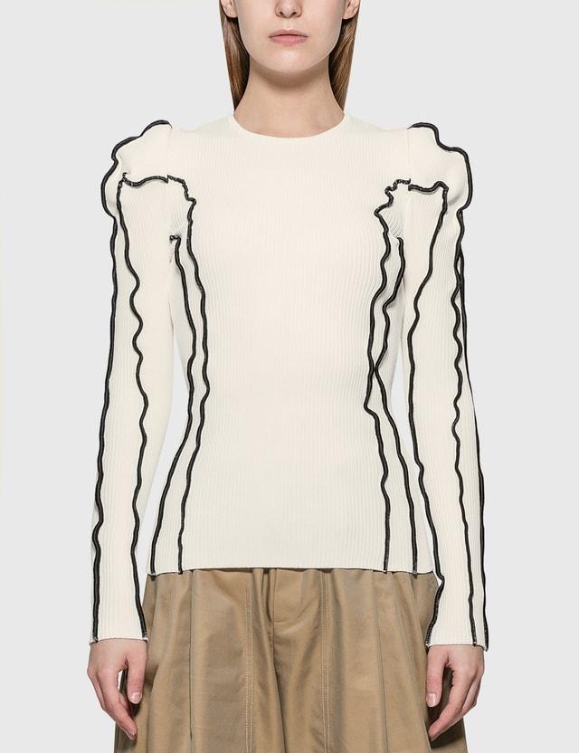 KOCHÉ Wide Shoulders Sweater