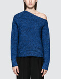 Alexander Wang.T Chunky Mohair Marl Asymmetrical Sweater Picture