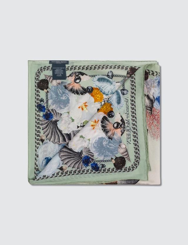 Alexander McQueen Neptune Treasure Floral Silk Scarf