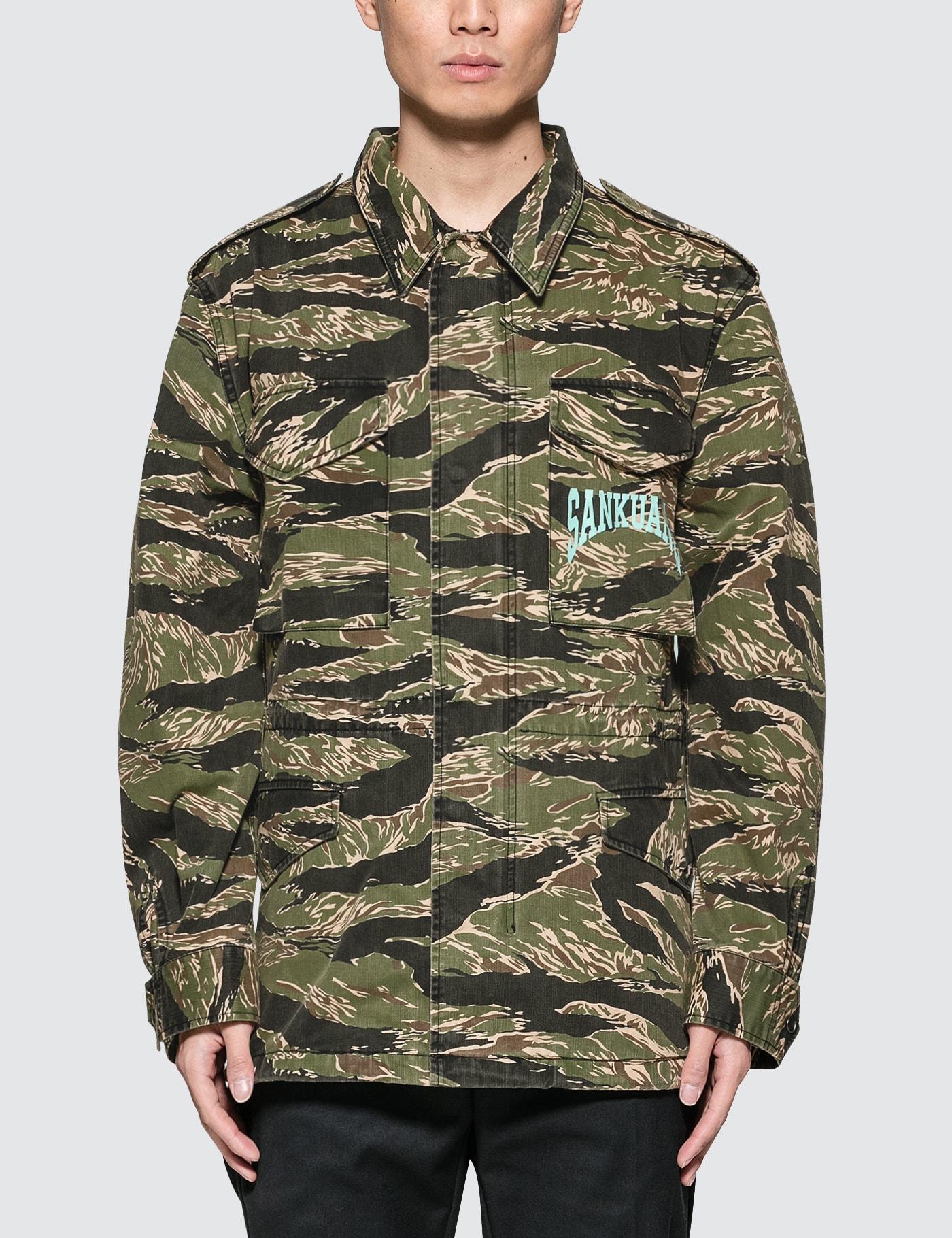 Sankuanz Camo Jacket In Green