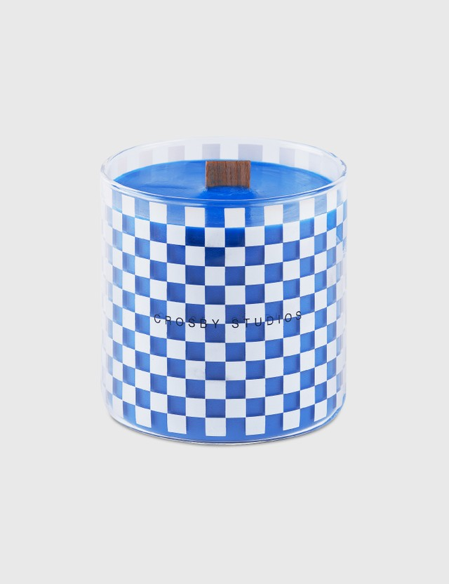 Crosby Studios Blue Candle Checkers