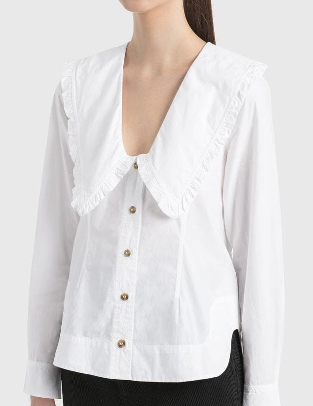 Ganni Cotton Poplin Frill Shirt
