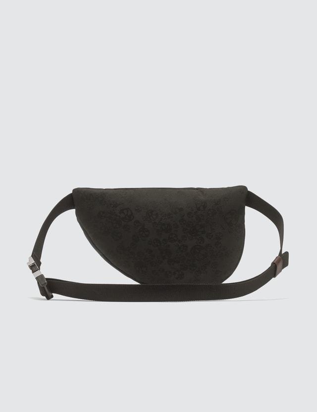 Alexander McQueen Jacquard Knit Skull Print Bum Bag