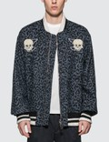 Lost Daze Leopard Skeleton Bomber Jacket Picture