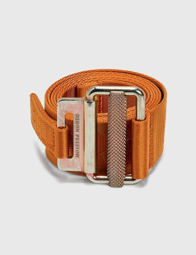 Heron Preston 4cm Classic Buckle Tape Belt Orange Men