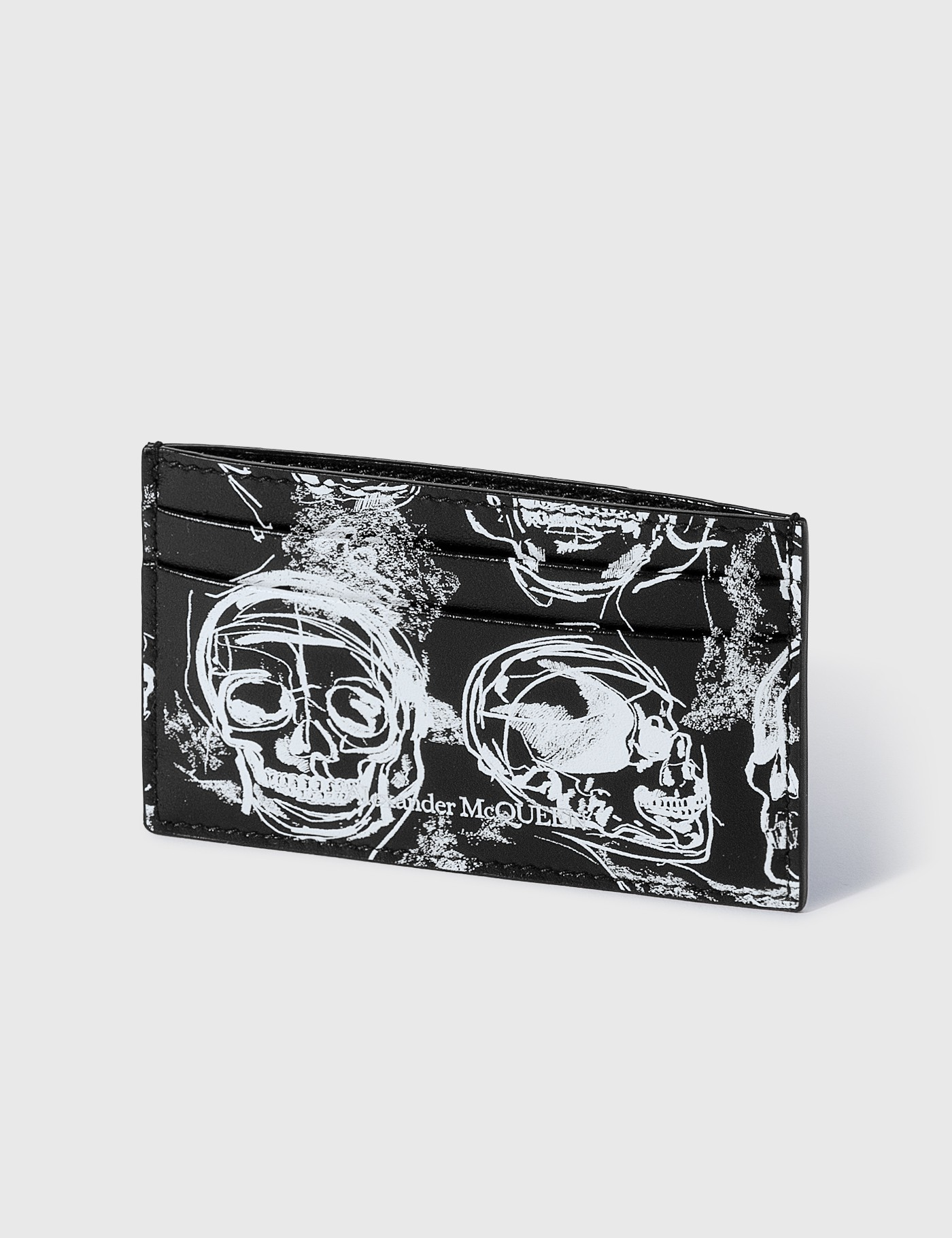 Alexander Mcqueen PAINTED SKULL CARD HOLDER