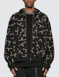 Mastermind World Allover Logo Full Zip Hoodie Picutre