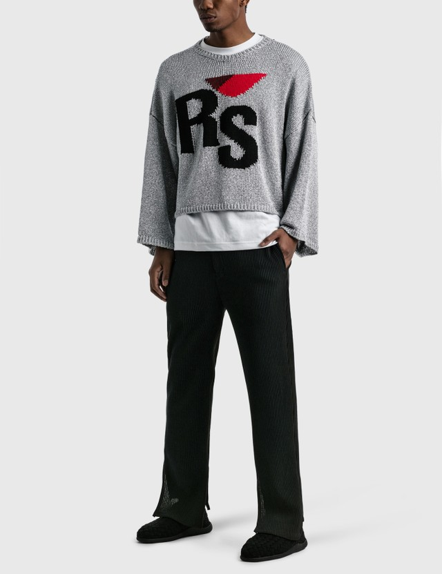 Raf Simons Short Oversized RS Sweater Silver Men