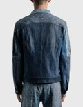 Marine Serre Moon Denim Patchwork Jacket 06 Dark Medium Blue Men