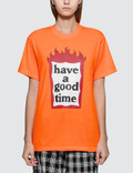 Have A Good Time Fire Frame Short Sleeve T-shirt Picture