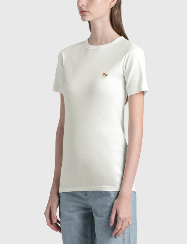 Maison Kitsune Profile Fox Patch T-shirt White Women