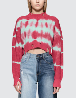 MSGM Stripes Bleach Ribbed Knit