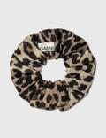 Ganni Patterned Scrunchie Hair Tie Phantom Women