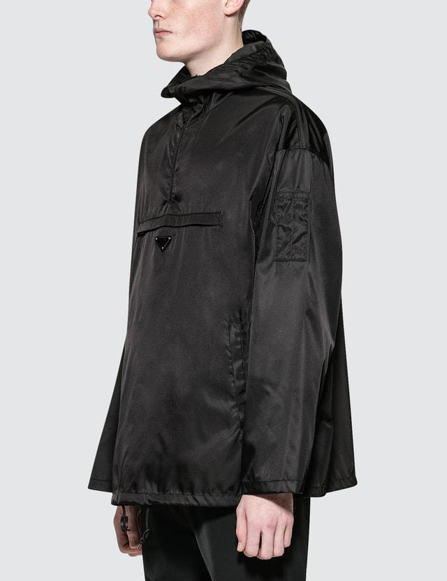 Prada Nylon Hooded Drawstring Jacket