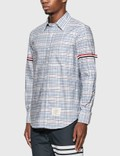 Thom Browne Tattersall Check Grosgrain Arm Band Shirt Rwbwht Men
