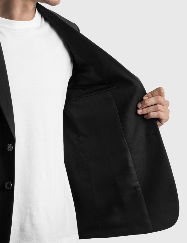 Saint Laurent Long Single-Breasted Blazer Noir Men