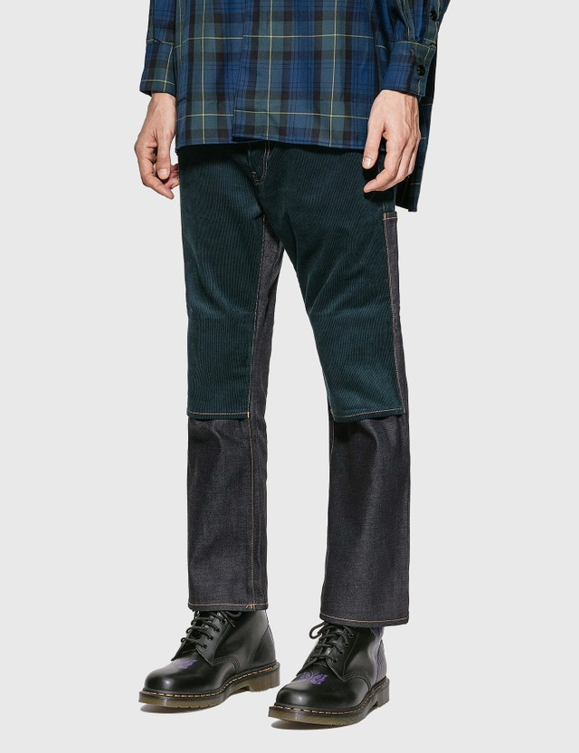 JieDa Switching 2-Way Flare Pants Indigo Men